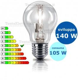 Lampada alogena goccia 105W E27 Philips