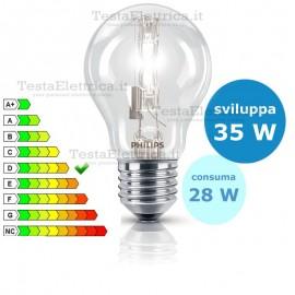 Lampada alogena goccia 28W E27 Philips