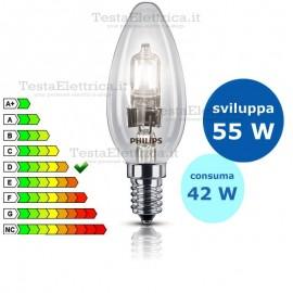 Lampada alogena oliva 42W E14 Philips
