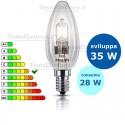 Lampada alogena oliva 28W E14 Philips