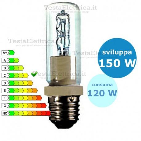 Tubolare alogena halo 120 watt e27 leuci for Lampada tubolare led