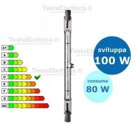 Lampada alogena Lineare 80W R7s-15 80 mm Leuci