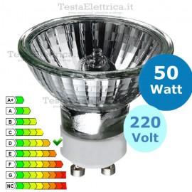 Faretto alogeno Spot 50W 220V GU10 Leuci