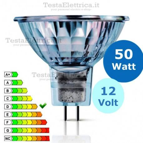 Faretto alogeno Spot 50W 12V GU5.3 Leuci