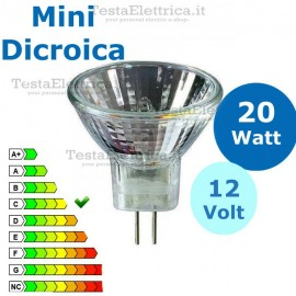 Faretto alogeno Mini Dicroica 20W 12V GU4 MR11