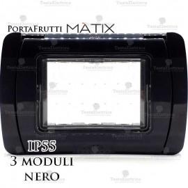 Coperchio 3 posti IP55 compatibile bticino Matix nero