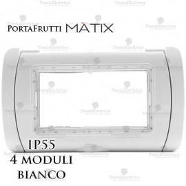Coperchio 4 posti IP55 compatibile bticino Matix bianco