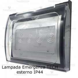 Lampada d' emergenza LED conice silver completa di custodia IP44