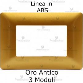 Placca in ABS oro antico compatibile con serie Bticino Matix