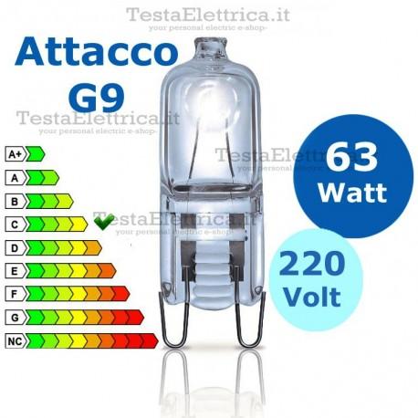 Lampadina alogena 63W 220V G9 Wiva