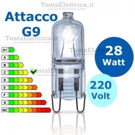 Lampadina alogena 28W 220V G9 Wiva