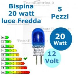 Lampadina alogena Bispina 20W 12V G4 Luce Bianca (5 Pz.)