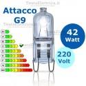 Lampadina alogena 42W 220V G9 GigraLine