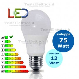 Lampadina a led  goccia 12 Watt E27 Gbc