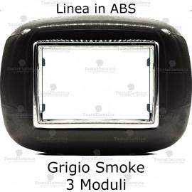 Placca Acciao Scuro 3,4 e 6 moduli in ABS compatibile con serie Bticino Axolute