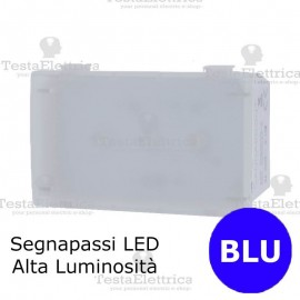 Segnapassi LED HI-POWER BLU compatibile con serie Bticino Matix