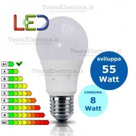Lampadina a led  goccia 8 Watt E27 Sice