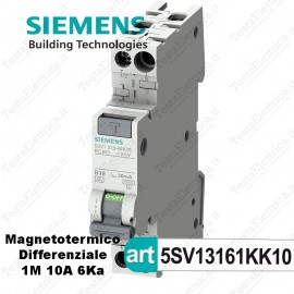 Interruttore Magnetotermico Differenziale 1M 10A  220V Siemens