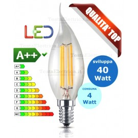 Lampadina a Wireled  colpo di vento 4 Watt E14 trasparente Fsl