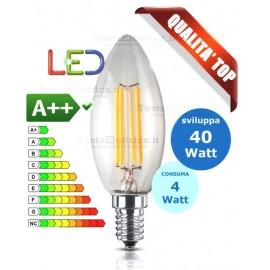 Lampadina a Wireled oliva 4 Watt E14 trasparente Fsl