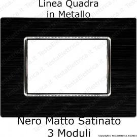 Placca nera compatibile bticino AXOLUTE in metallo linea quadra