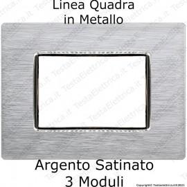 Placca cromo compatibile bticino AXOLUTE in metallo rettangolare