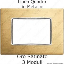 Placca compatibile bticino AXOLUTE in metallo colore oro