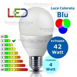 Lampadina a led goccia 4 Watt E27 Blu