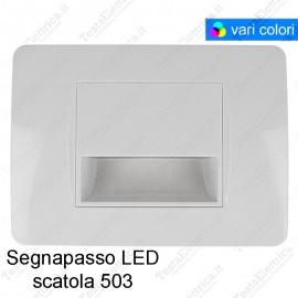 Segnapassi LED cornice Bianca design Matix
