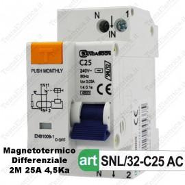 Interruttore Magnetotermico Differenziale  c25