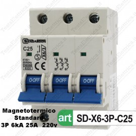 Interruttore Magnetotermico 3M 25A  380V Sandasdon
