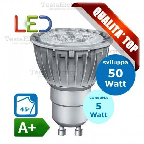 Lampada led Dicroica GU10 220V 5W spot deco Wiva