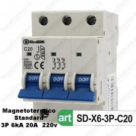 Interruttore Magnetotermico 3M 20A  380V Sandasdon