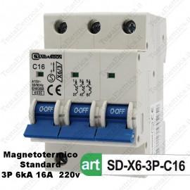 Interruttore Magnetotermico 3M 16A  380V Sandasdon