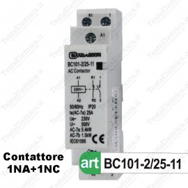 Contattore 1NO + 1NC 230V 25A 2P Sandasdon