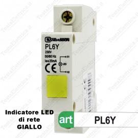Indicatore LED Giallo di presenza di tensione di rete