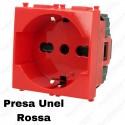 Presa schuko rossa compatibile con serie Vimar Plana
