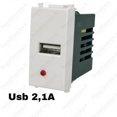 Presa USB compatibile vimar plana SD71750