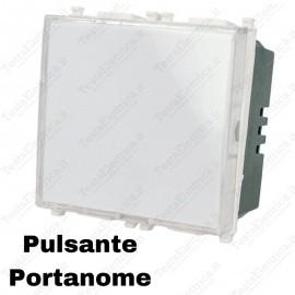 Pulsante portanome compatibile con serie Vimar Plana