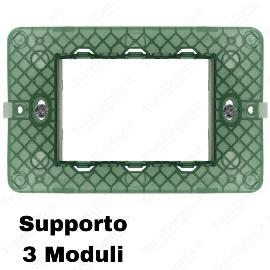Supporto compatibile Vimar Plana 3 moduli