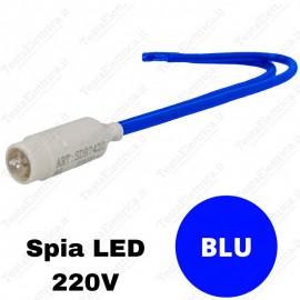 Spia Led Blu 220v per moduli Vimar Plana e Arkè