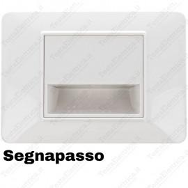 Segnapassi LED cornice bianca compatibile 503 vimar plana