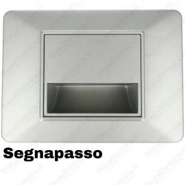 Segnapassi LED cornice grigia compatibile 503 plana