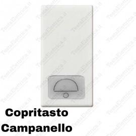Copritasto illuminabile simbolo campana compatibile con serie Vimar Plana
