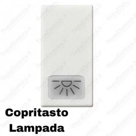 Copritasto illuminabile simbolo lampada compatibile con serie Vimar Plana