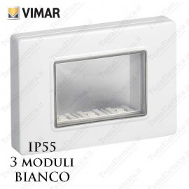 Vimar 14943.01 Calotta ip55 bianca 3 moduli Plana Arkè Eikon