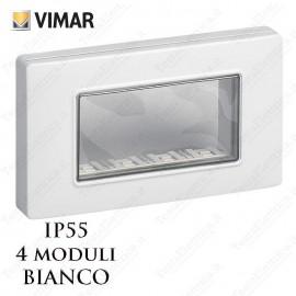 Calotta 4 posti IP55 bianca  Vimar Plana Arkè Eikon