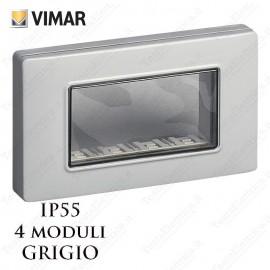 Calotta 4 posti IP55 grigio Vimar Plana Arkè Eikon