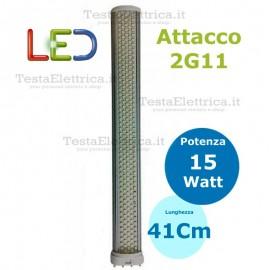 Lampada led 2G11 4 pin 15W 220V 6500k NG