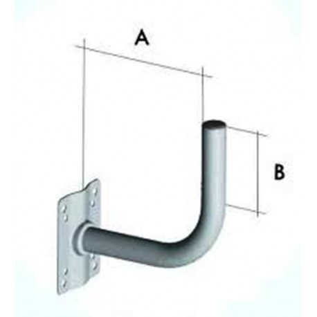 staffa  per parabola a A 60 cm B 40 cm srt 00016